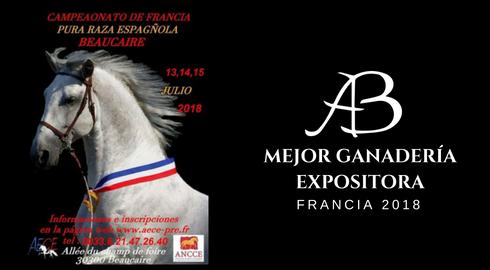 CAMPEONATO DE FRANCIA 2018: MEJOR GANADERÍA EXPOSITORA